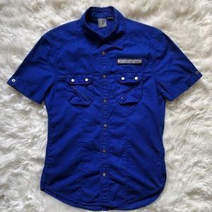 Armani Exchange Short Sleeve Button Up